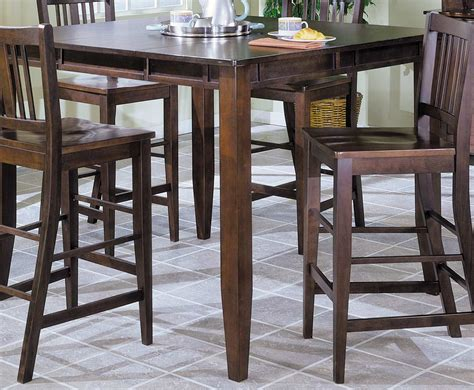 Pub Dining Tables Homelegance Market Square Pub Dining Table Wth Butterfly Leaf Extension Home 759 42