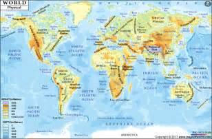 World Mountain Map by World Mountain Range Map World Map With Mountain Ranges