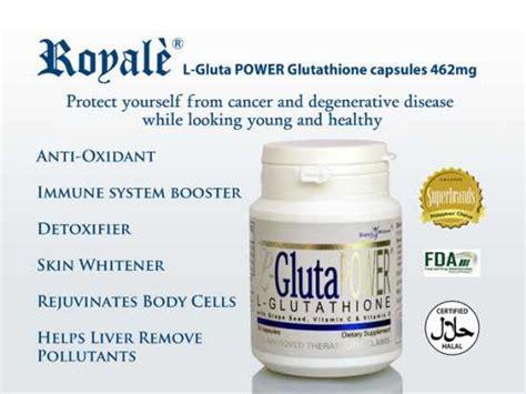 Gluta Fresh Glutathione Whitening Series 3 In 1 royale l gluta power glutathione capsule