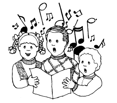free coloring pages of sing a song of sixpence children singing clipart clipart panda free clipart images
