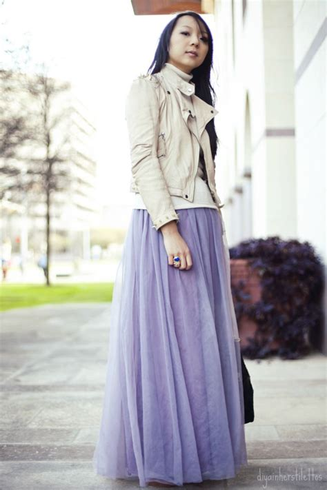 diy tulle tutu maxi skirt house of harlow leather tote