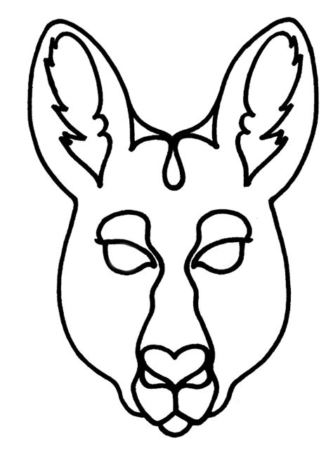 kangaroo face coloring page kangaroo pictures to color cliparts co