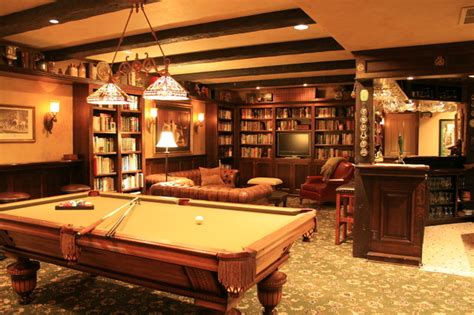 Kitchen Cabinets Portland english pub style basement traditional basement