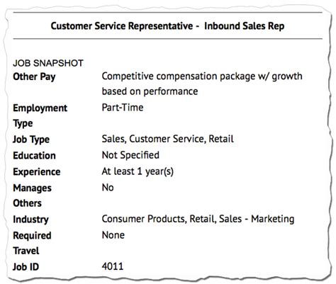 Parts Of Resume And Definition Descriptions Decoded Sales Customer Service Position Aol