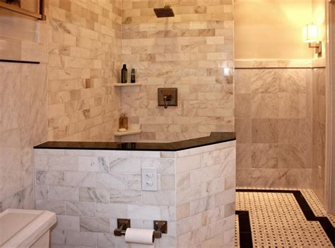 Tiling Ideas For Bathroom Bathroom Tiling A Shower Wall Home Depot Tile Walk In
