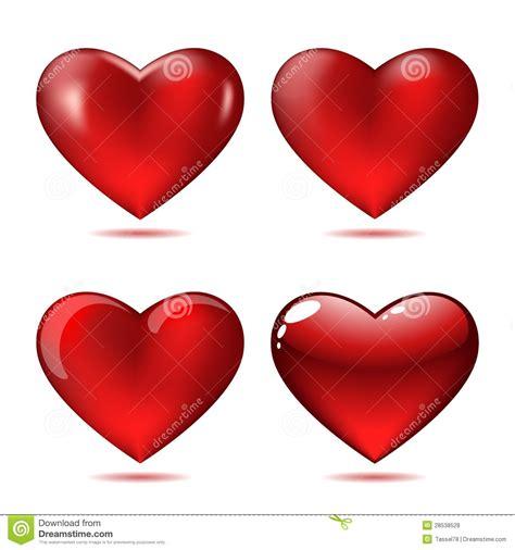 imagenes de corazones grandes y rojos conjunto de corazones rojos grandes ilustraci 243 n del vector