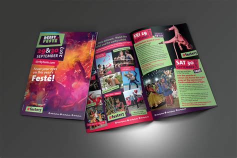 leaflet design derby derby fest 233 2017 square one creative