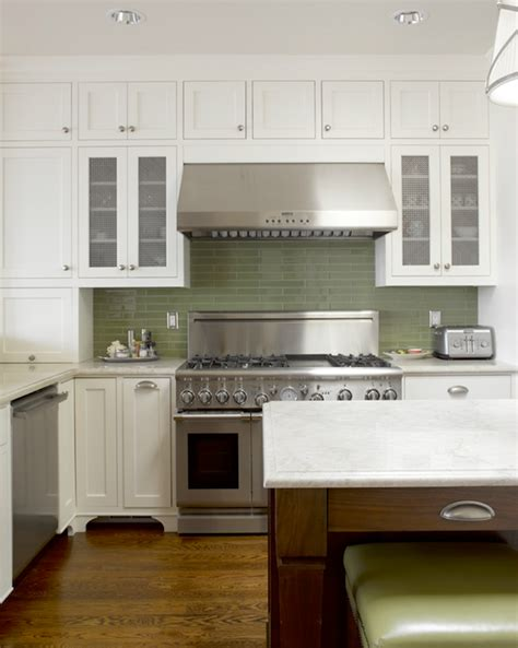 green backsplash kitchen green glass tile backsplash contemporary kitchen jeff lewis design