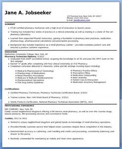 pharmacy technician resume sle no experience