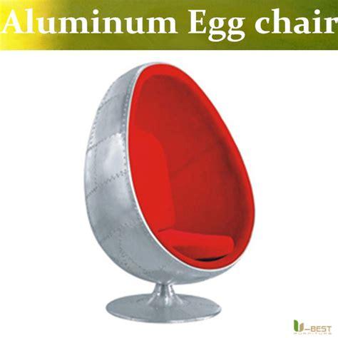 metal egg chair u best aluminum egg pod chair red cushion egg chair in