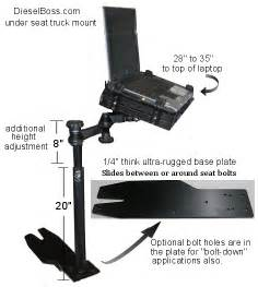computer stand for truck laptop truck mount for computers in semi tractor big rigs