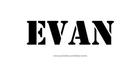 evan tattoo evan name designs