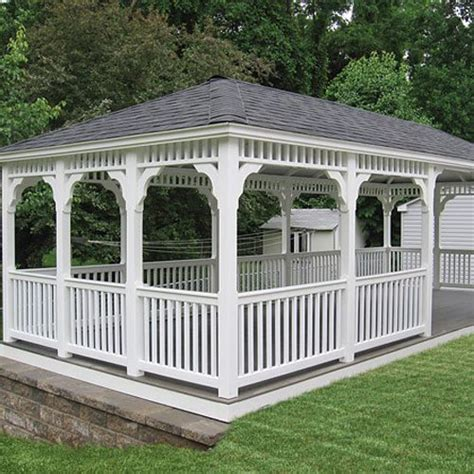 vinyl gazebo rectangle vinyl gazebos country gazebos