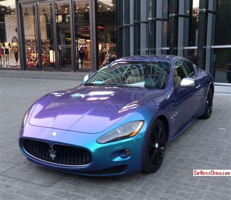 Maserati Granturismo Is Shiny Purple Blue In China