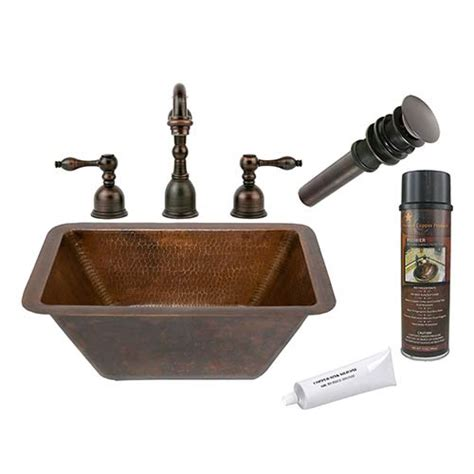 lead free copper sinks rectangle copper bellacor