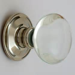 smooth glass door knobs nickel backs priors