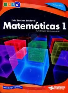 libro de matemticas contestado de 1 de secundaria 2016 matematicas 1 secundaria construccion del pensamiento