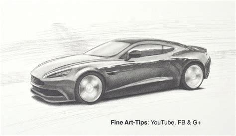 how to draw a aston martin how to draw an aston martin db9 gt vanquish like