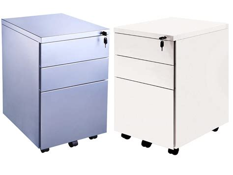 Metal 3 Drawer Mobile Under Desk Office Pedestal Office Pedestal Office Desk