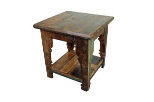 Wood End Tables Mexicali Rustic Wood End Table Bedroom Furniture Mexican Rustic Furniture And Home Decor
