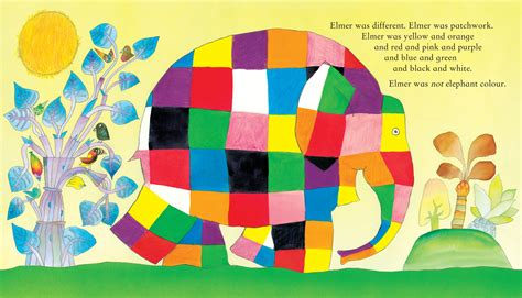 Elmer The Patchwork Elephant Story - elmer