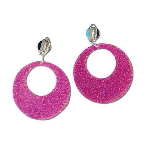 80s Accessories Earrings by 60s 70s 80s Mod Earrings Accessory Pink Silver Gold Swirl