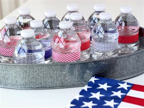 Water Bottle Decorating Ideas by Patriotic Craft Water Bottle Favors Washi Crafts