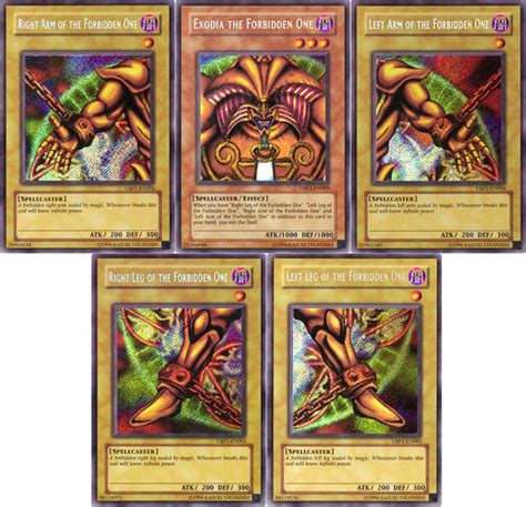 Yugioh Instant Win Cards - exodia the forbidden one know your meme