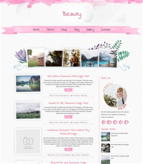 fashion blogger templates 2017 free download