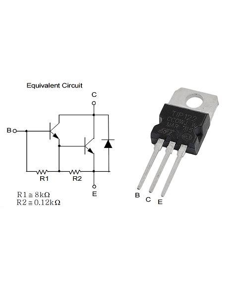 transistor npn como lificador transistores transistor darlington npn de potencia tip122