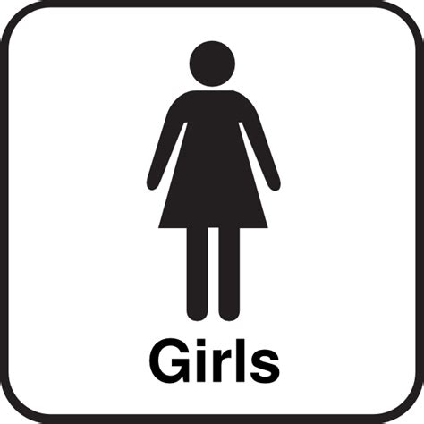 Bathroom Girls Sign Clip Art At Clker Com Vector Clip Art Online Royalty Free