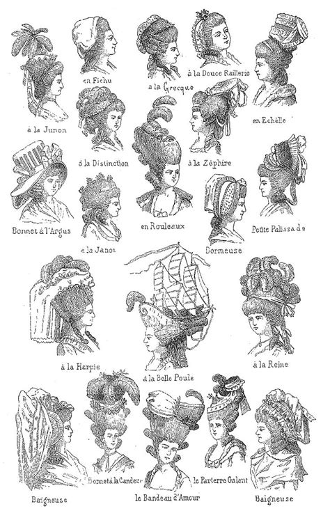17th century hair styles great drawings of 18th century hats and hair do s marie