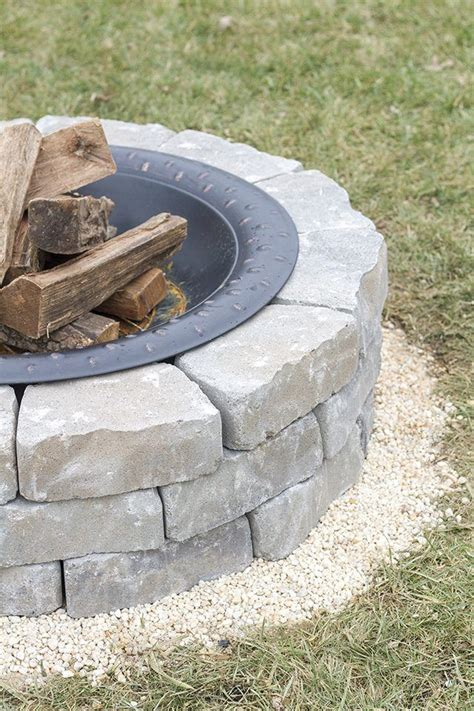 How To Build A Firepit With Pavers Best 25 Paver Stones Ideas On Pinterest Paver Patio Diy Paver And Diy Pavers Patio