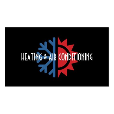 heating and cooling business card templates heating and air conditioning business card pack of