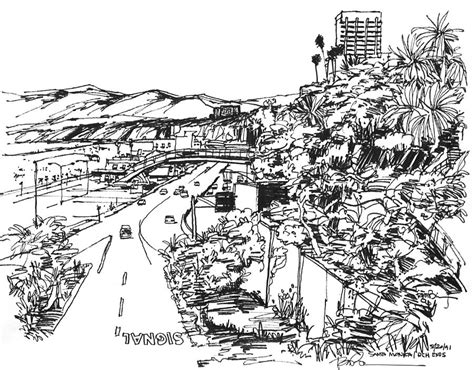 Pch Drawing - santa monica ca pacific coast highway starts here by robert birkenes