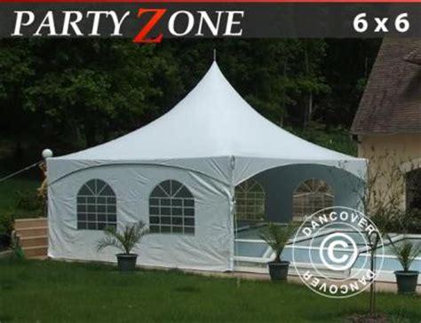 pavillon 6x6 meter partyzelt 6x6 m pvc festzelt vereinszelt gartenzelt