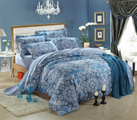 king size blue comforter sets luxury egyptian cotton bedding set blue floral king size
