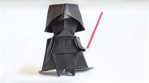 guerra de las galaxias manualidades de papel aprende a hacer un darth vader de origami paso a paso upsocl