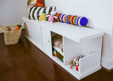 diy toy bench diy storage bench toy storage ideas 13 easy solutions