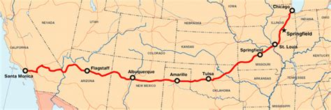 map of route 66 usa route 66 road trip choose car cervan or rv rental