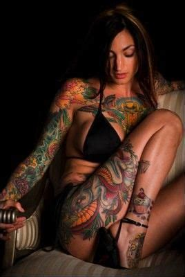 heavily tattooed females tattoo s pinterest