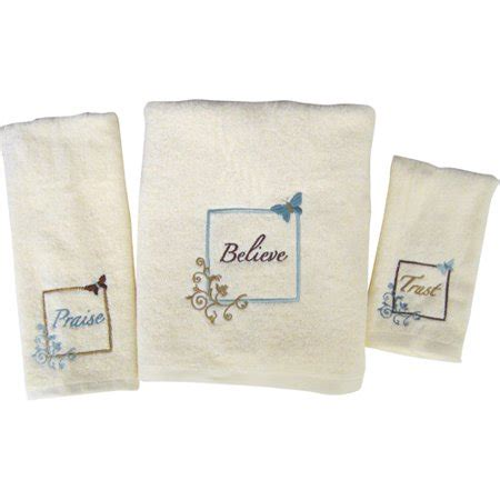 butterfly blessings 3pc towel set walmartcom
