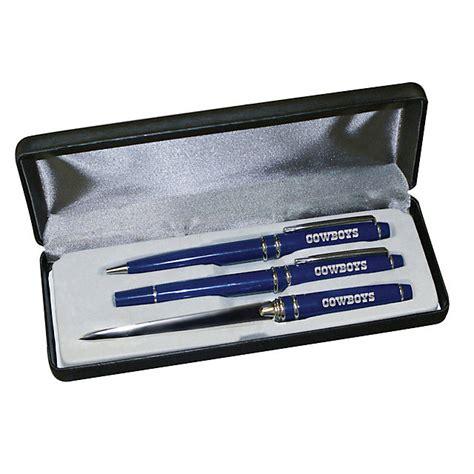 dallas cowboys desk accessories dallas cowboys 3 piece engraved pen gift set office