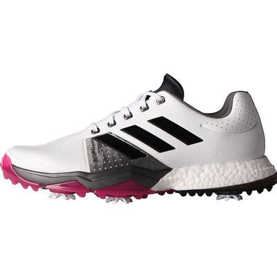 adidas adipower boost 3 golf shoes white black pink discount prices for golf equipment