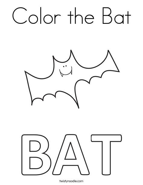 Color The Bat Coloring Page Twisty Noodle The Bat Coloring Pages