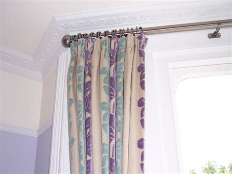 hanging curtains on poles 38mm two bend bradley baypole