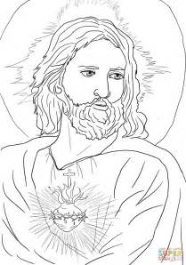 Sacred Heart Of Jesus Coloring Page Free Printable Jesus Coloring Pages