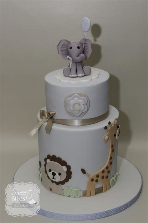 animal two boy and one animal theme boy baby shower cake cake by sweet bites by