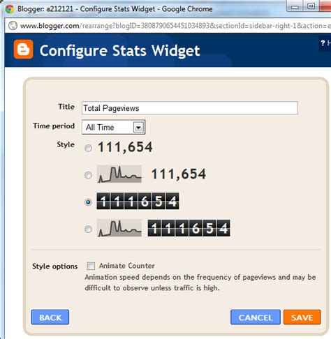 blogger view count site statstics page view or site hit counter now available