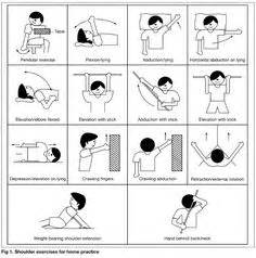 Common shoulder exercises for frozen shoulder stretching exercises